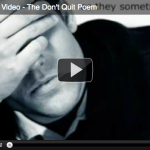 The Don't Quit Poem Picture